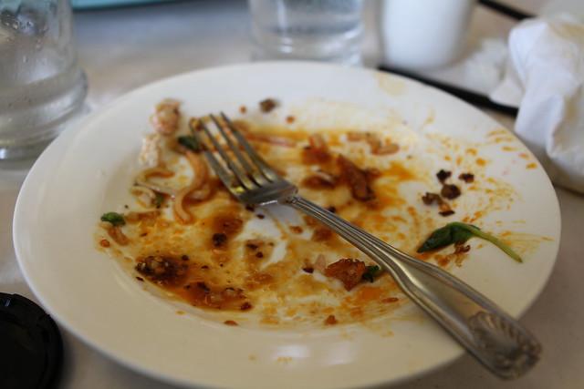 my empty plate