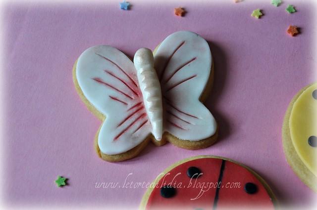 Biscotti decorati: farfalla