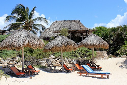 Beach at Azulik Villas in Tulum, Mexico