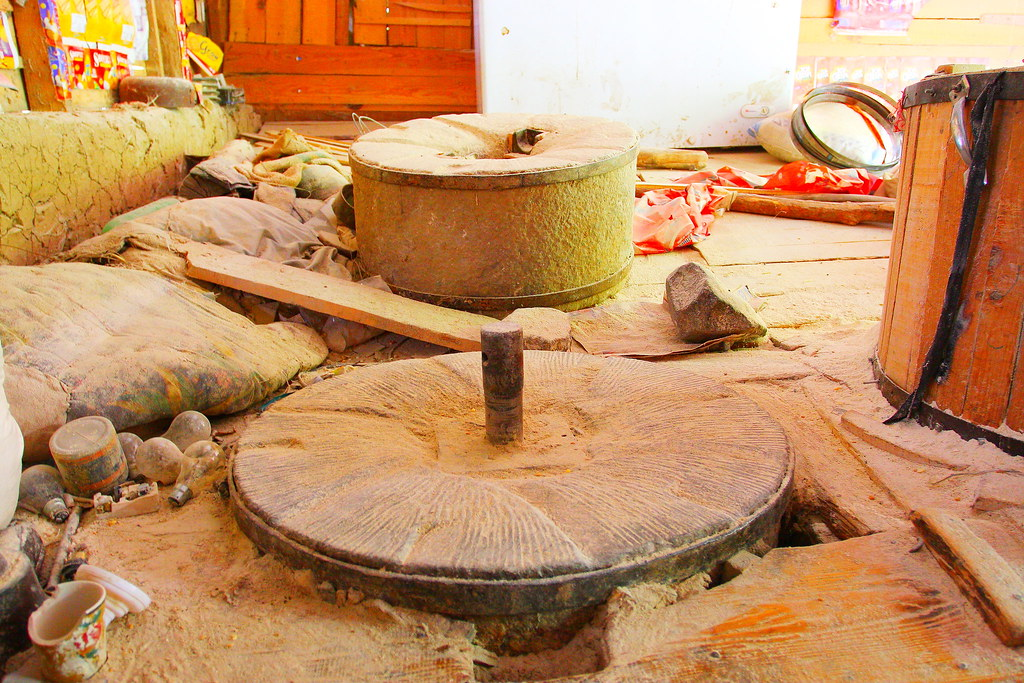 Flour mill grinding wheel in Kashmir