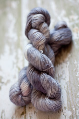 'Pewter' Baby Alpaca/Wool/Silk Single ply DK