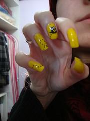 Abelhinhas (?) (nata510) Tags: nailart abelhinha craquel craquelado unhasdecoradas