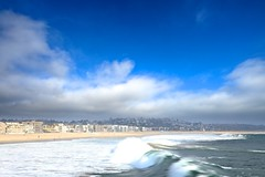 wave (Eric 5D Mark III) Tags: ocean california blue sky usa cloud seascape beach water canon landscape photography losangeles unitedstates wave wideangle coastline venicebeach ericlo ef14mmf28liiusm eos5dmarkii