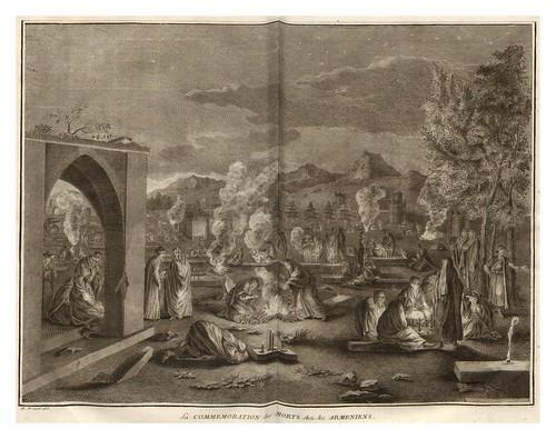 006-La commemoracion de los muertos entre los armenios-Ceremonias et coutumes religieuses de tous les peuples du monde 1741- Bernard Picart-© Universitätsbibliothek Heidelber
