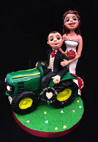 Tractor wedding cake topper ~ fimo - a photo on Flickriver