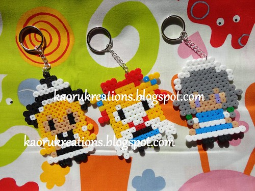 Touhou Characters Perler Beads Key Chain