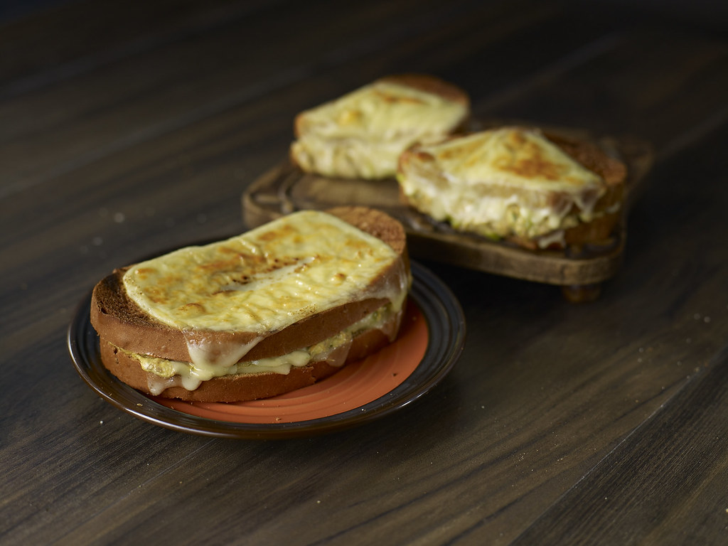 Tuna Melt on Rye Bread