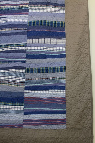 Recycled Shirt 11 ft Long Wall Hanging Quilt