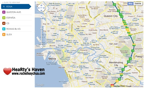 metro manila traffic navigator google map view