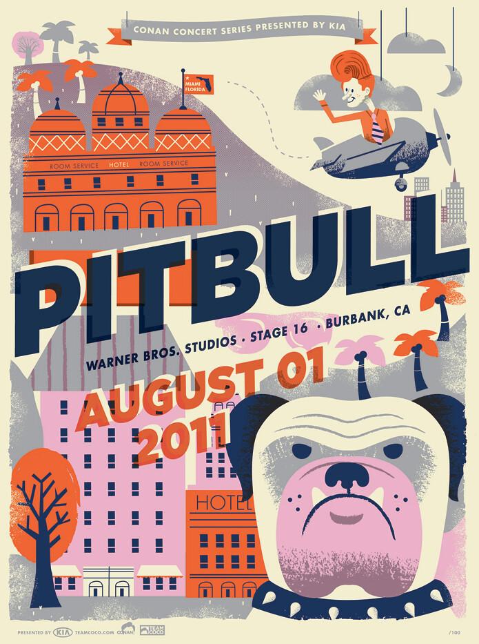 Conan O'brien Concert series: Pitbull