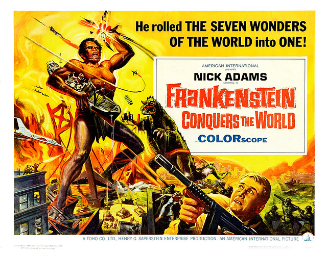 Reynold Brown - Frankenstein Conquers the World (American International, 1966) half sheet