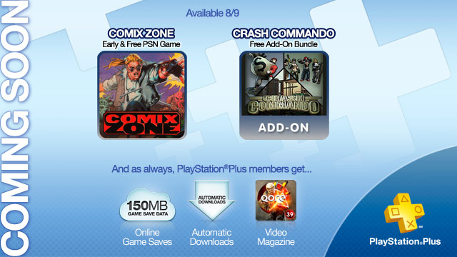 PlayStation Plus August 9th