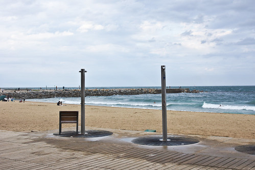 Showers at Barceloneta Beach