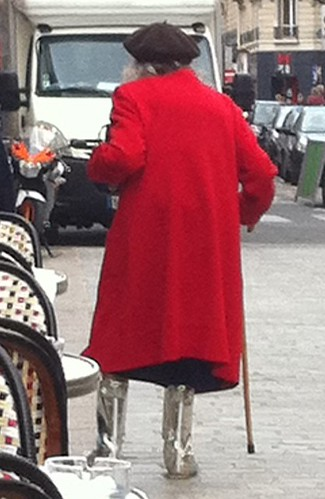 A French Grandma with intergalactic boots