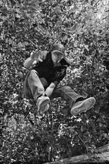 I Don't Need No Stinkin' Skateboard (Robert m Williams) Tags: selfportrait ontario canada man tree jumping fergus wellingtoncounty centrewellington