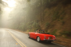 Surfin' USA (jchiangg) Tags: sanfrancisco trees red mountains classic cars car canon nissan background sigma wideangle jungle westside westcoast 1020 halfmoonbay woodside datsun drifting toge 50d datsun2000 prestigious worldcars kazumaworld