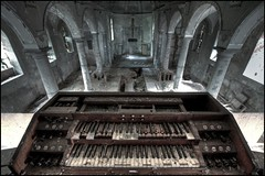 Serenity. (Romany WG) Tags: abandoned church glass chapel medieval stained organ derelict tombs urbex