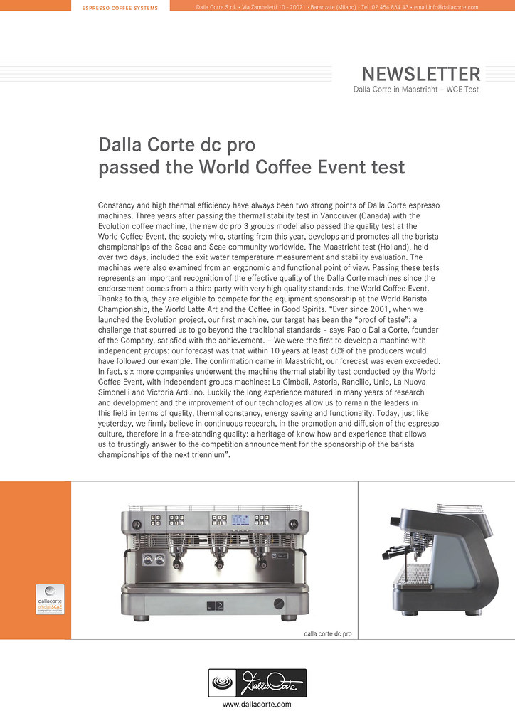 Dalla Corte Newsletter Test WCE ENG