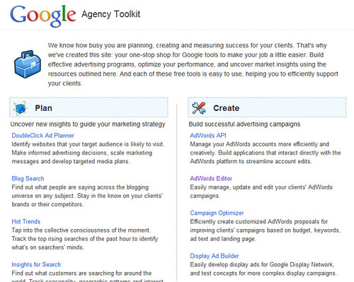 Google Agency Toolkit