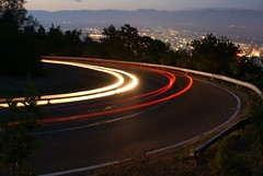 Twilight trails (kosova cajun) Tags: longexposure mountain car evening twilight headlights macedonia lighttrails curve taillights switchback skopje mountainroad makedonija vodno curvyroad shkupi shkup maqedonia maqedoni