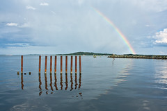 Rainbow (Pimthida) Tags: sky nature water reflections rainbow rgen