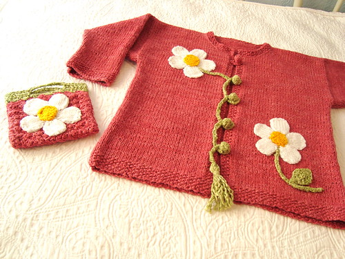 Flower Cardigan & Purse