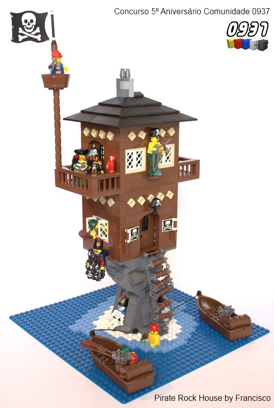 Pirate rock house