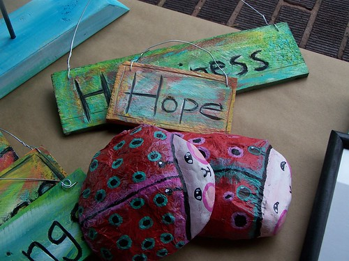 Lady bugs, hope and happiness signs by Emilyannamarie