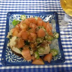 枝豆ジョニーに薬味と残り野菜のっけてプレミアムモルツTime