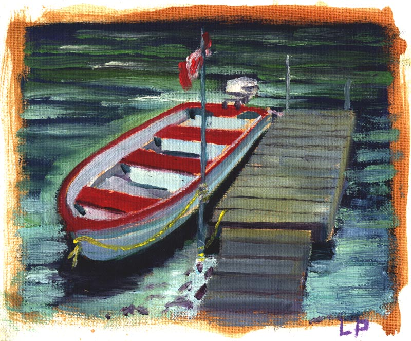 CanadianFlagBoat