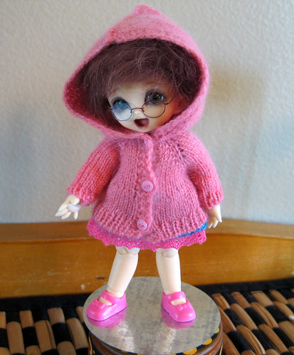 front, puki hooded cardigan prototype