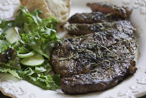 Grilled Garlic and Rosemary Steak
