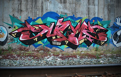 Compact Red (Scotty Cash) Tags: vancouver graffiti sueme 2011