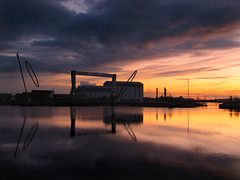 Temenos awakes once more. (paul downing) Tags: sunrise canon middlesbrough able mfc middlehaven temenos pd1001 aitumn sx10is pauldowning