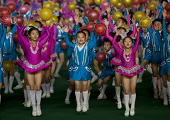 Kids in Arirang Mass Games in May Day stadium Pyongyang- North Korea (Eric Lafforgue) Tags: festival kids children war asia balls korea asie coree northkorea dprk coreadelnorte arirang nordkorea 3392    coreadelnord   insidenorthkorea  rpdc  kimjongun coreiadonorte