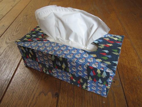 Boite à mouchoirs patchwork pour Guillaume
