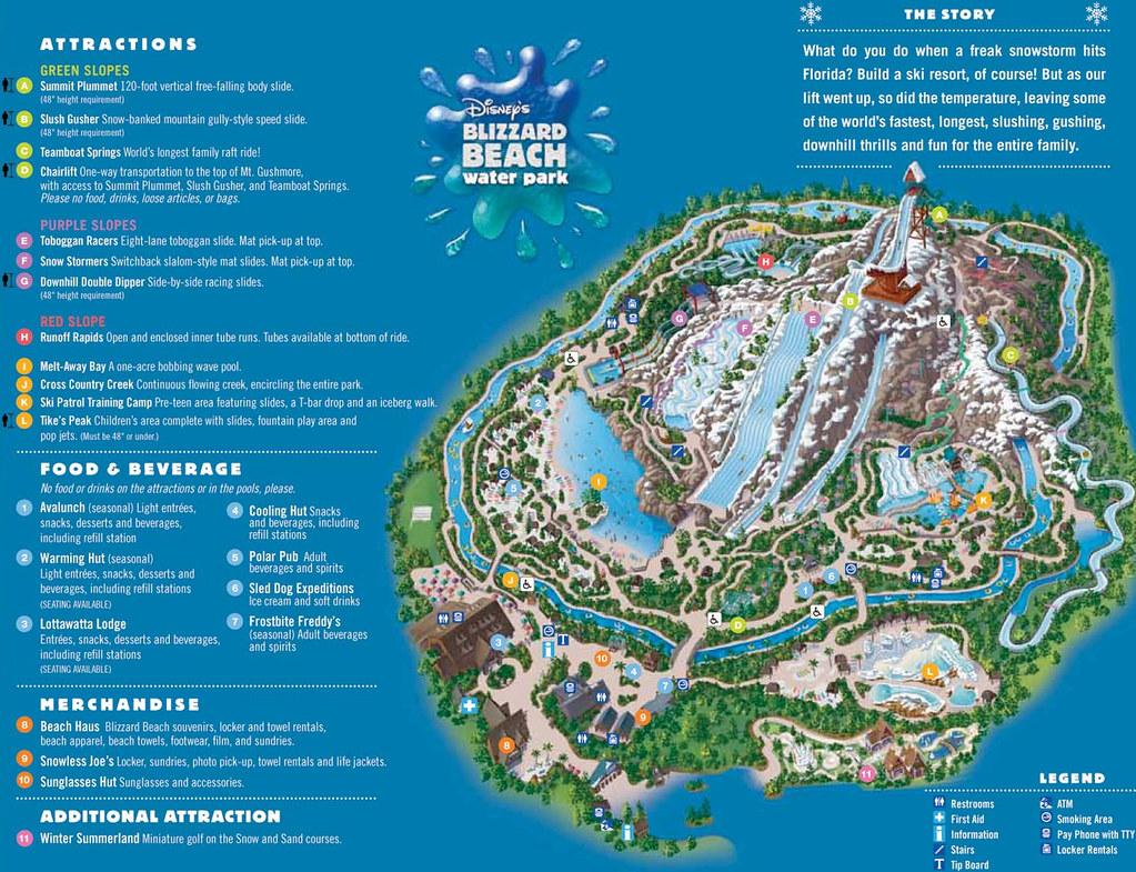 Mapa Blizzard Beach