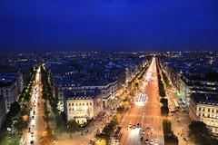Paris凱旋門からの景観