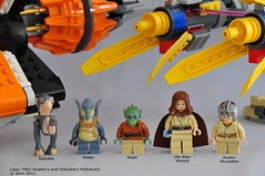 Star Wars Lego 7962 Anakin's and Sebulba's Podracers (KatanaZ) Tags: toys starwars lego wald obiwankenobi watto anakinskywalker sebulba lego7962 anakinsandsebulbaspodracers