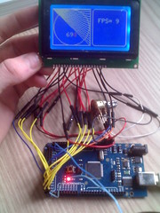 Display lcd 128x64 com Arduino Mega