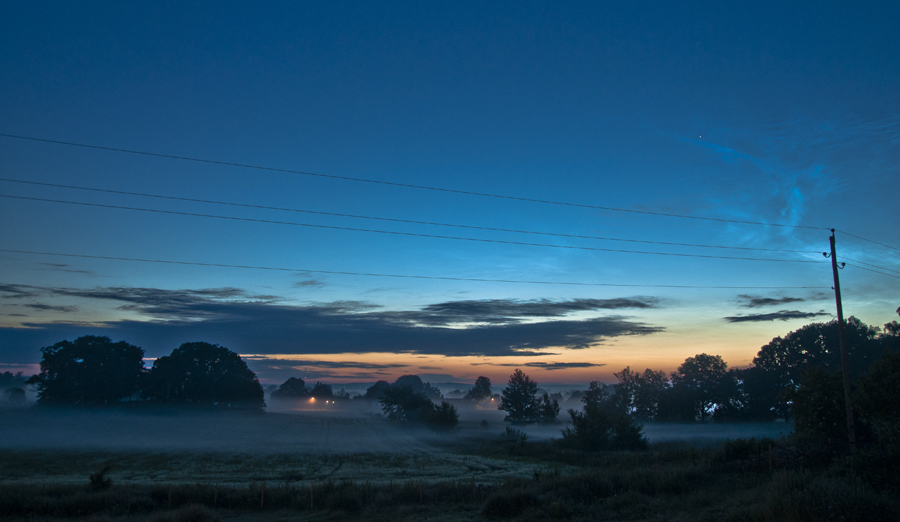Fog and Noctilucent cloud