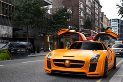 Fab. (Alex Penfold) Tags: auto street camera summer fab orange london cars alex sports car sport mobile canon photography eos mercedes design photo cool flickr image awesome flash picture super spot harrods knightsbridge arabic exotic photograph arab spotted hyper supercar spotting matte  sls numberplate exotica sportscar amg qatar sportscars supercars    merc penfold sloane   spotter qtr 2011        hypercar 60d    hypercars   alexpenfold