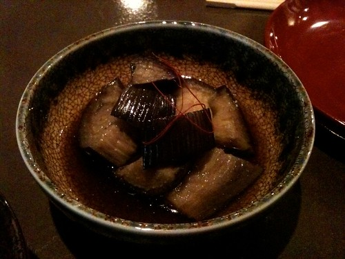 Lengué: Aubergines au bouillon
