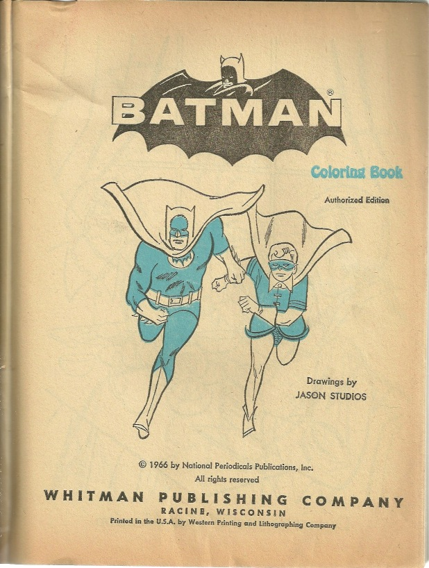 The Batcave Trophy Room 1966 Coloring Book Part 1
