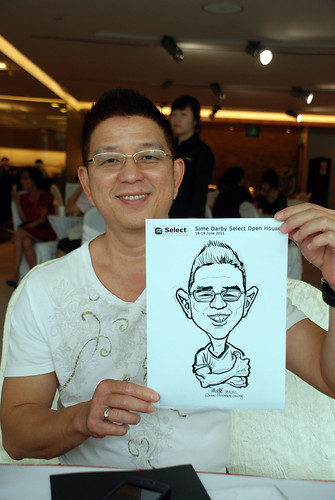 Caricature live sketching for Sime Darby Select Open House Day 1 - 10