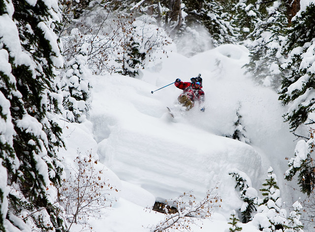 Alex Blais at TLH Heliskiing in Goldbridge, British Columbia