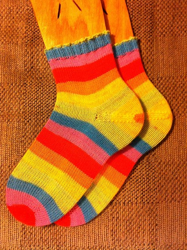 Vanilla Rainbow Socks