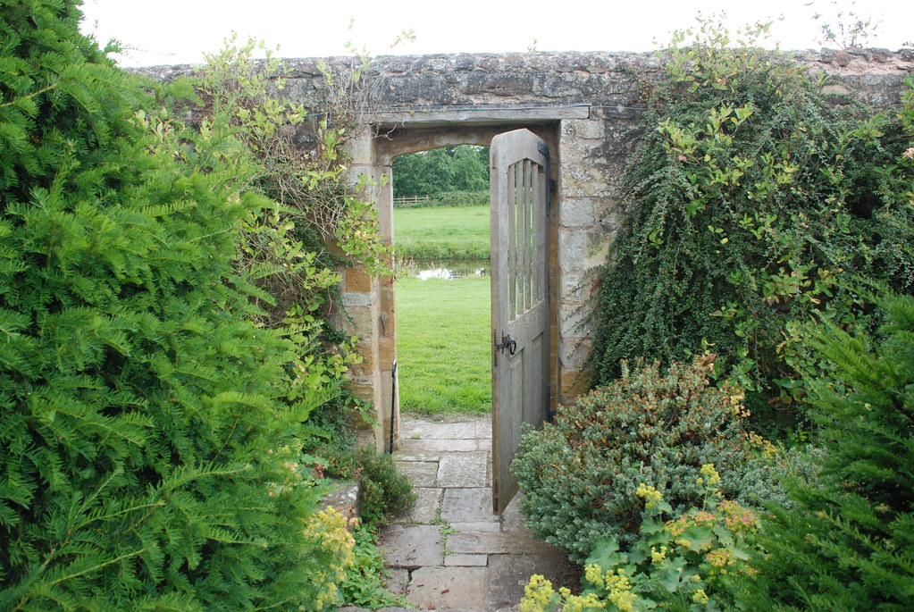 gate out of the garden