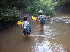 The Girls Crossing Jones Creek