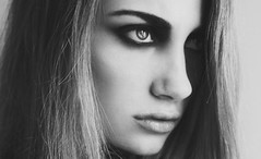 (Melania Brescia) Tags: portrait bw girl eyes makeup bn